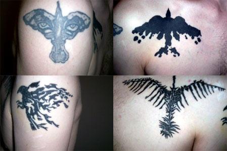 Decompose1's tattoos