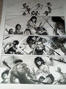 Original barbarian comic art
